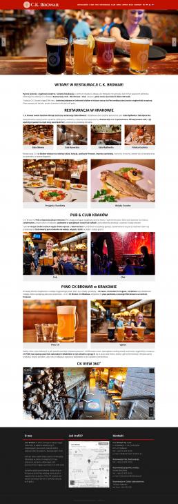tworzenie stron www kraków restauracja