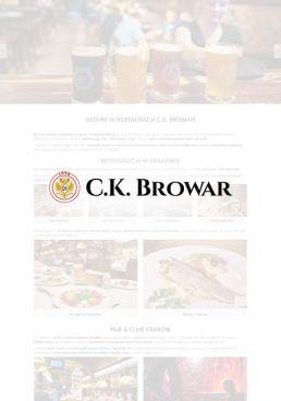 tworzenie stron www kraków restauracja ck